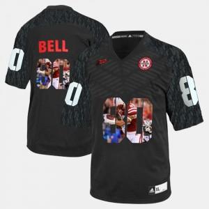 Nebraska Cornhuskers Kenny Bell Jersey #80 Player Pictorial Men Black
