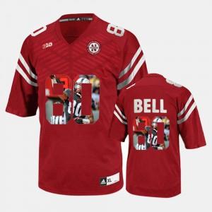 Nebraska Cornhuskers Kenny Bell Jersey Red For Men's Player Pictorial #80