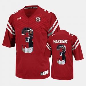 Nebraska Cornhuskers Taylor Martinez Jersey #3 Mens Red Player Pictorial