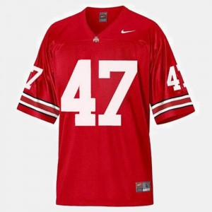 Ohio State Buckeyes A.J. Hawk Jersey College Football #47 Mens Red