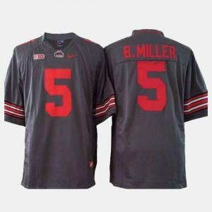 Ohio State Buckeyes Braxton Miller Jersey College Football Mens Gray #5
