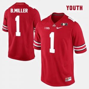 Ohio State Buckeyes Braxton Miller Jersey #1 Red Kids College Football