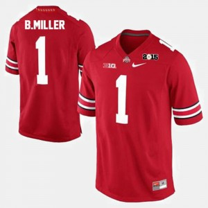 Ohio State Buckeyes Braxton Miller Jersey #1 College Football Red Men