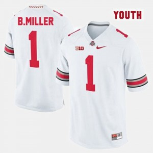 Ohio State Buckeyes Braxton Miller Jersey College Football White Kids #1