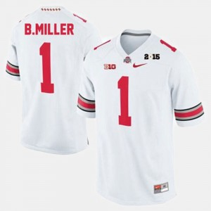 Ohio State Buckeyes Braxton Miller Jersey Men White #1 College Football