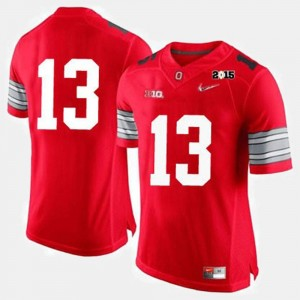 Ohio State Buckeyes Jersey #13 Mens Red College Football