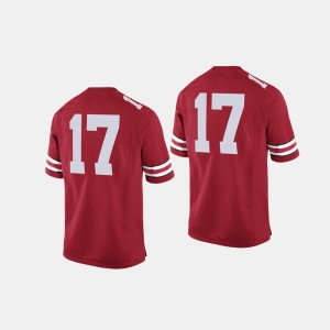 Ohio State Buckeyes Jersey College Football #17 Scarlet For Men's