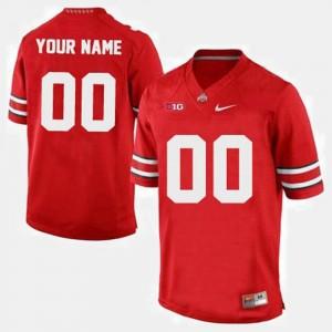 Ohio State Buckeyes Custom Jersey Red Men #00 College Football