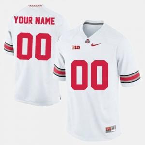 Ohio State Buckeyes Custom Jersey #00 Men's White College Football