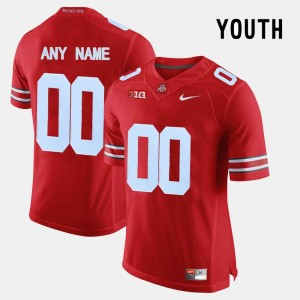 Ohio State Buckeyes Customized Jersey Red #00 Kids College Limited Football