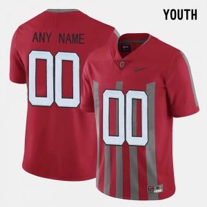 Ohio State Buckeyes Custom Jerseys Youth(Kids) #00 Throwback Red