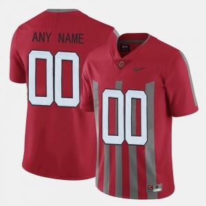Ohio State Buckeyes Custom Jerseys Throwback Red For Men #00