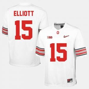 Ohio State Buckeyes Ezekiel Elliott Jersey White College Football Men #15