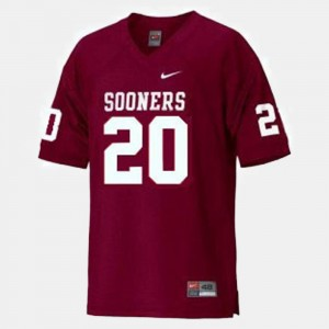 Oklahoma Sooners Billy Sims Jersey Red Kids College Football #20