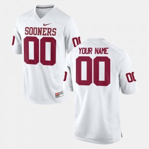 Oklahoma Sooners Customized Jersey Mens White #00 College Football