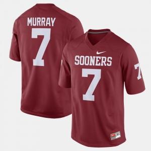Oklahoma Sooners DeMarco Murray Jersey Alumni Football Game Crimson #7 For Men