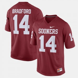 Oklahoma Sooners Sam Bradford Jersey Men Alumni Football Game Crimson #14