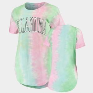 Oklahoma Sooners T-Shirt Tie Dye Women's Rainbow Bay