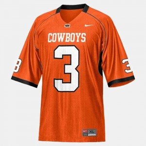Oklahoma State Cowboys and Cowgirls Brandon Weeden Jersey College Football #3 Orange Men's