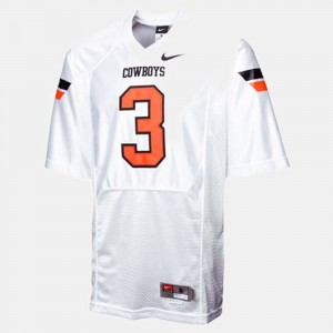 Oklahoma State Cowboys and Cowgirls Brandon Weeden Jersey For Men #3 White College Football