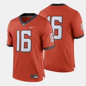 Oklahoma State Cowboys and Cowgirls Jersey Orange College Football #16 Mens