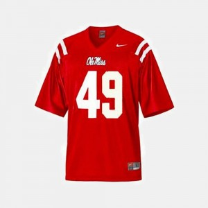 Ole Miss Rebels Patrick Willis Jersey For Kids College Football Red #49