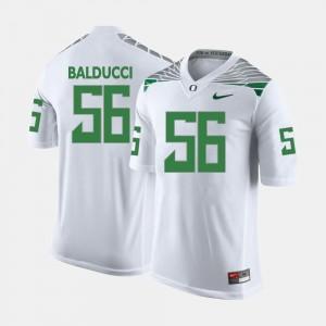 Oregon Ducks Alex Balducci Jersey For Men College Football #56 White