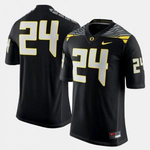 Oregon Ducks Jersey Mens Black #24 College Football