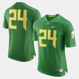 Oregon Ducks Jersey Green Men College Football #24