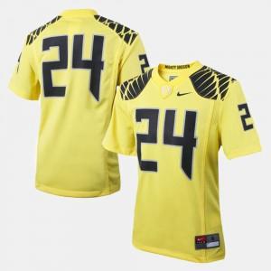 Oregon Ducks Jersey College Football Youth(Kids) #24 Yellow