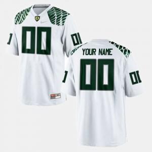 Oregon Ducks Custom Jerseys Men College Football White #00