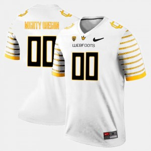 Oregon Ducks Customized Jersey White Mens #00 College Limited Football