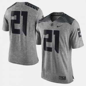 Oregon Ducks Jersey Gridiron Gray Limited Men Gray #21 Gridiron Limited