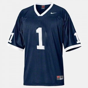 Penn State Nittany Lions Jersey College Football #1 Blue Men's