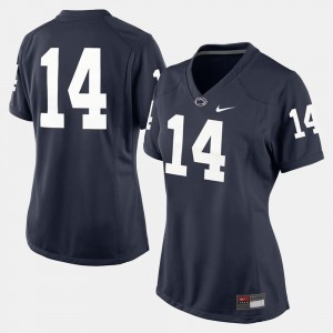 Penn State Nittany Lions Jersey #14 College Football Navy Blue Ladies