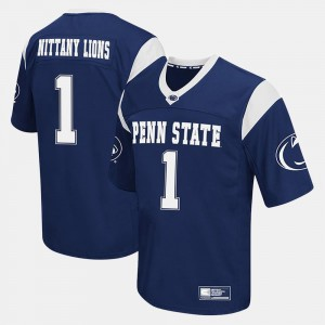 Penn State Nittany Lions Jersey Navy Men College Football #1