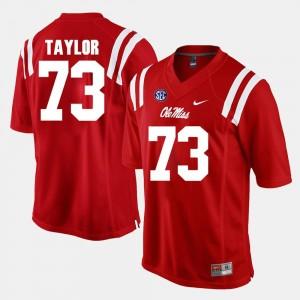 Ole Miss Rebels Rod Taylor Jersey #73 Men Red Alumni Football Game