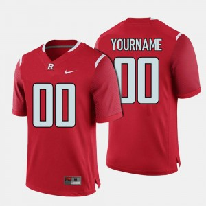 Rutgers Scarlet Knights Customized Jersey #00 Red College Football Men