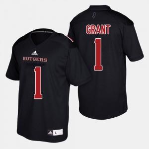 Rutgers Scarlet Knights Janarion Grant Jersey #1 Men College Football Black