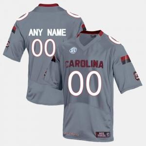 South Carolina Gamecocks Custom Jersey College Limited Football Men's #00 Grey