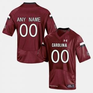 South Carolina Gamecocks Custom Jerseys Red For Men's College Limited Football #00