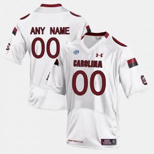 South Carolina Gamecocks Custom Jersey White College Limited Football Men #00