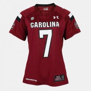 South Carolina Gamecocks Jadeveon Clowney Jersey College Football Womens Red #7