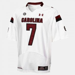 South Carolina Gamecocks Jadeveon Clowney Jersey Mens White #7 College Football