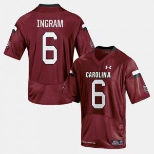 South Carolina Gamecocks Melvin Ingram Jersey College Football Men #6 Cardinal