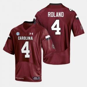 South Carolina Gamecocks Shaq Roland Jersey Cardinal For Men's #4 College Football