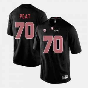 Stanford Cardinal Andrus Peat Jersey Mens #70 College Football Black