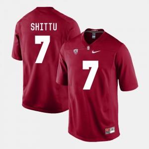 Stanford Cardinal Aziz Shittu Jersey Mens Cardinal #7 College Football