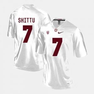 Stanford Cardinal Aziz Shittu Jersey For Men College Football #7 White