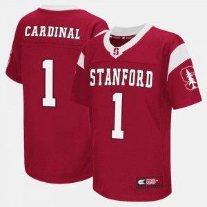 Stanford Cardinal Jersey College Football Cardinal #1 Youth(Kids)